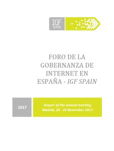 portada IGF Spain 2017